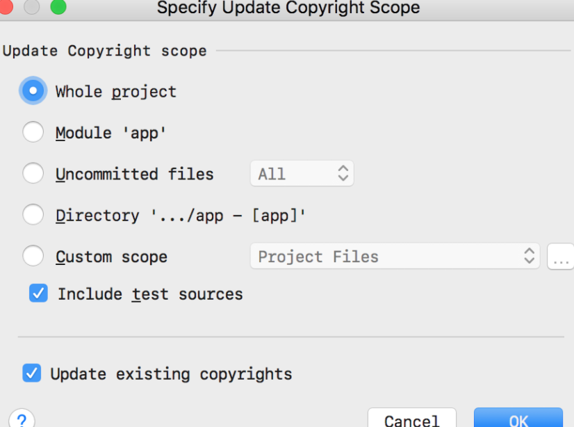 Automatically Updating Copyright Messages In Jetbrains Ides